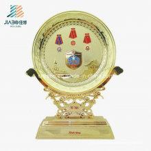 Heißer Verkauf Großhandel Emaille Gold Plate für Souvenir für Souvenir