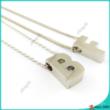 Равнина серебра слайд прелести ожерелье письма (FN16041814)