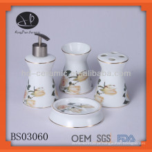 Conjunto de acessórios de banho de cerâmica