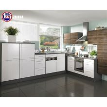 Waterproof Plywood Small Kitchen Cabinets with Glossy Lacquer Doors (customized)