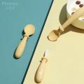 Ensemble de deux cuillères à fourchettes en silicone pour bébé
