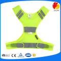 good quality yellow 100gsm polyester reflective running vest
