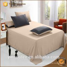100% poliéster 110-120g color sólido personalizado impreso digital hojas de cama
