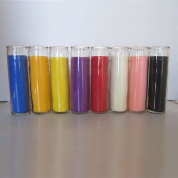 7-dagars vegetabiliska vigil Novene Devotional Glass Candles