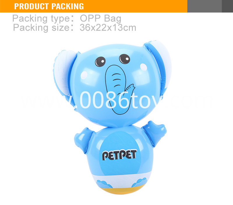 Plastic inflatable toy