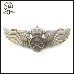 Crown Wing war pin badge