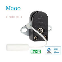 Miniature Single Throw Lamp Cord Switch 2a / 250v For Household , Pc 94v-2