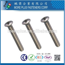 Made in Taiwan M5 DIN966 Phillips Raised Countersunk machine screw Phillips screw