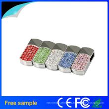 Proveedor de China regalo promocional Crystal Metal USB Pen Drive 4GB 8GB