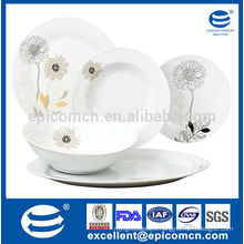 floral decorative high quality kitchenware New Bone China wholesale with dish plate