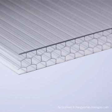Fabricant de feuille de Multiwall de feuille de nid d'abeilles de polycarbonate pour les toits de toiture de lucarne Feuille de PVC acrylique de garantie de 10 ans