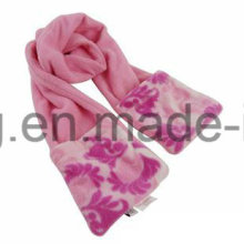 Customized Lady Warm Knitting Polar Fleece Scarf
