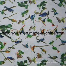 Tissu imprimé par polyester pour des vêtements de rideau en feuille de lit