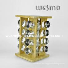 Estante giratorio de la cocina del estante de la cocina de bambú (wkb0327a)