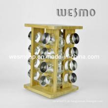Revolvendo bambu cozinha prateleira Spice Rack (wkb0327a)