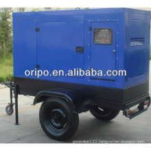 100KW portable generator price of silent trailer type