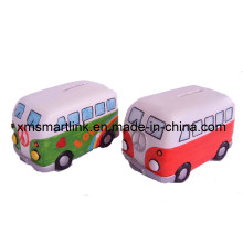 OEM Poly Resin Bus Decor Money Bank, Bus Coin Box