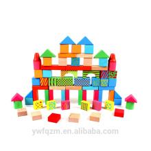 Wholesale bloques de construcción de madera de colores