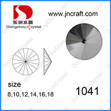 Wholesale Round Shape Available Top Quality Crystal Glass Rhinestone for Decoration