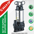 Stainless Steel Sewage submersible water pumps 0.55KW 0.75HP with float switch