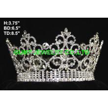 Хрустальная круглая корона тиара