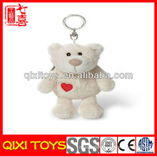 Professional design cute gift bear plush keychain and coin purse