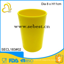 "Wholesale and durable melamine 3"" yellow round shape plastic disposable cups"