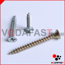 Pozi Drive Double Countersunk Chipboard Screw