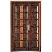 Puerta de madera de acero blindada estilo lujoso