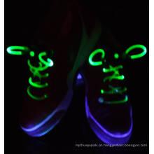 Laço de sapato pisca LED com botões redondos