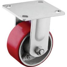 Roulettes industrielles hautes performances à plaque fixe
