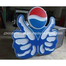 Plaque acrylique pour la publicité signe et boîte de lampe