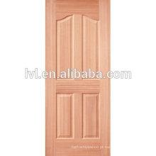 Pele de porta folheada moldada HDF / MDF