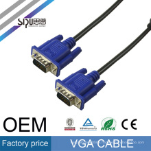 SIPU factory price male to male high quality15 pin 3+2 vga connector cable