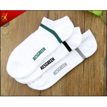 Männer weiße Baumwoll-Socke für sportliche Männer tragen