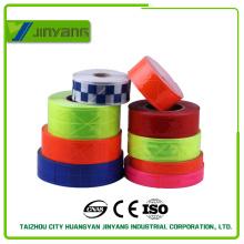 fita reflexiva reflexiva do PVC 200cd de cores de alta visibilidade