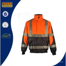 Hola Vis bomba acolchada chaqueta de los hombres impermeable invierno