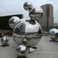ville moderne décoration sphère globe sculpture décoration jardin acier