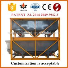 Silo de cemento horizontal con certificado CE e ISO para planta de dosificación de hormigón