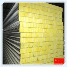 Panel de sándwich de lana de vidrio incombustible con aislamiento acústico para la pared