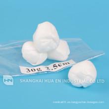 Bola no tejida estéril desechable para uso médico