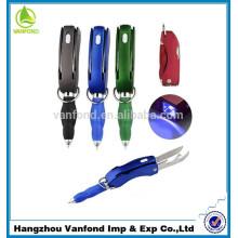 Novedad multifunción promoción LED promocional de la pluma, pluma de publicidad LED