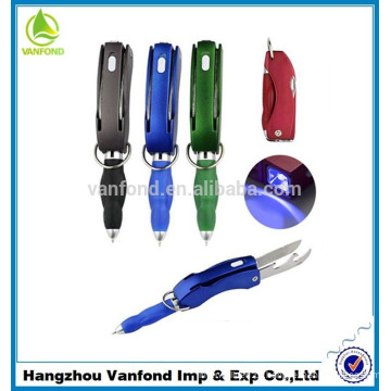 Novidade multifunções LED promocionais caneta promocional, caneta de publicidade LED