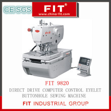 Direct Drive Computer Control Eyelt Buttonhole Sewing Machine (9820)