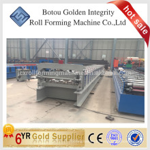 Decking floor roll forming machine made in China, floor deck roll forming machine in stock