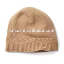 PK17ST038 Chapeau en cachemire avec manchette en tricot hiver chapeau
