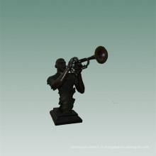 Bustes Laiton Statue Trombone Décoration Bronze Sculpture Tpy-745