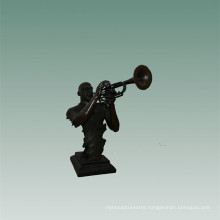 Busts Brass Statue Trombone Decoration Bronze Sculpture Tpy-745