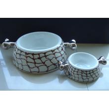 Porcelain Dog Bowl