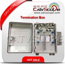 Caixa terminal de alta qualidade de W-24 FTTX / caixa de distribuição de fibra óptica